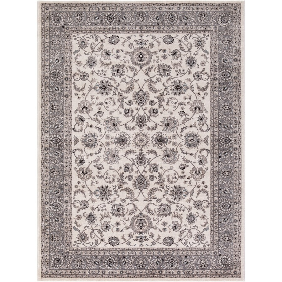 Concord Global Troy Beige Rectangular Indoor Machine-Made Oriental Area Rug (Common: 3 x 5; Actual: 3.25-ft W x 4.58-ft L)