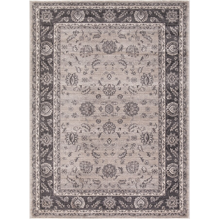 Concord Global Troy Ivory Rectangular Indoor Machine-Made Oriental Area Rug (Common: 7 x 10; Actual: 6.58-ft W x 9.25-ft L)