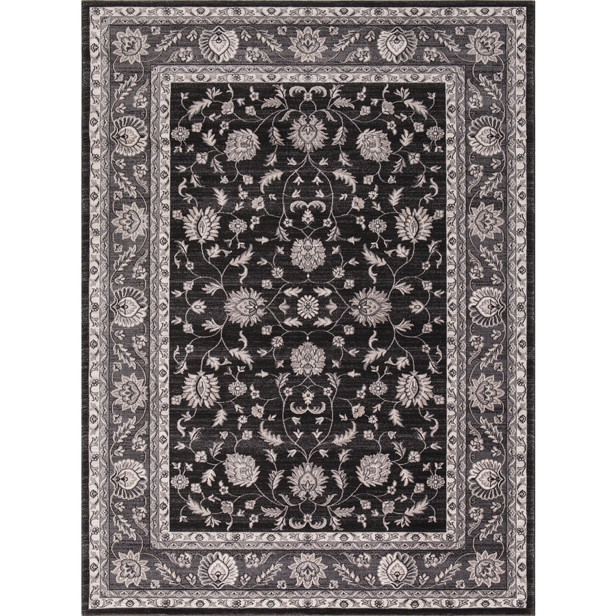 Concord Global Troy Anthracite Rectangular Indoor Machine-Made Oriental Area Rug (Common: 5 x 7; Actual: 5.25-ft W x 7.25-ft L)