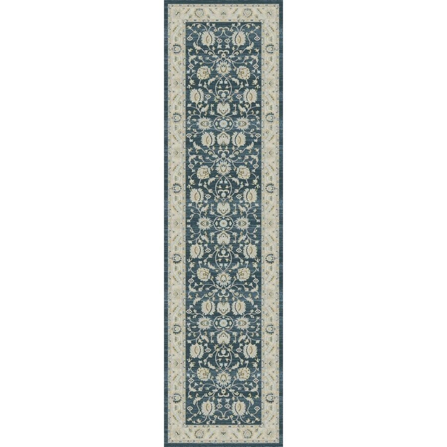 Concord Global Troy Green Rectangular Indoor Oriental Runner (Common: 2 x 8; Actual: 2-ft W x 7.25-ft L)