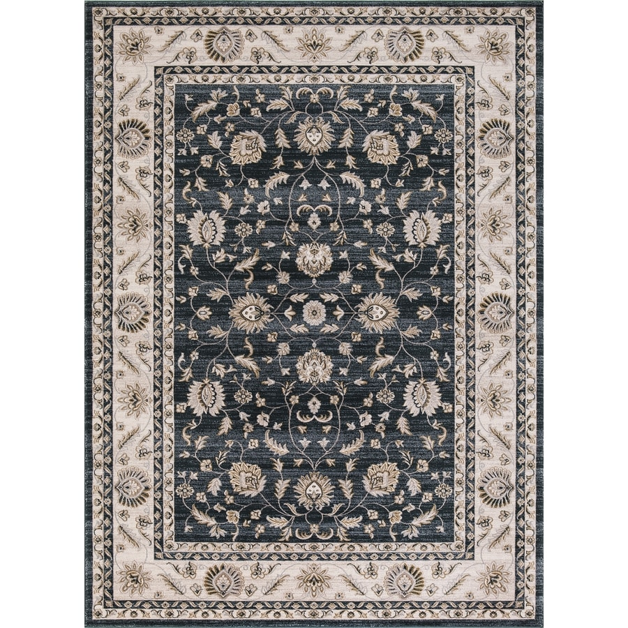 Concord Global Troy Green Rectangular Indoor Machine-Made Oriental Area Rug (Common: 5 x 7; Actual: 5.25-ft W x 7.25-ft L)