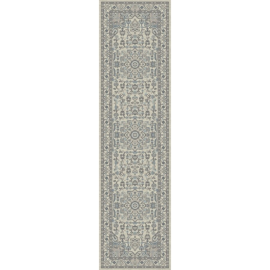 Concord Global Troy Ivory Rectangular Indoor Machine-Made Oriental Runner (Common: 2 x 7; Actual: 2-ft W x 7.25-ft L)
