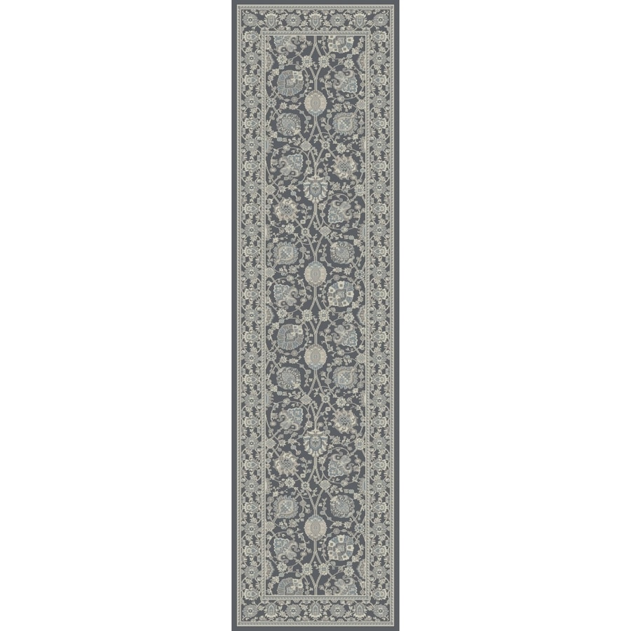 Concord Global Troy Gray Rectangular Indoor Machine-Made Oriental Runner (Common: 2 x 7; Actual: 2-ft W x 7.25-ft L)