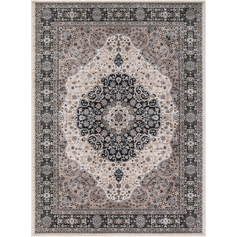 Concord Global Troy Ivory Rectangular Indoor Machine-Made Oriental Area Rug (Common: 3 x 5; Actual: 3.25-ft W x 4.58-ft L)