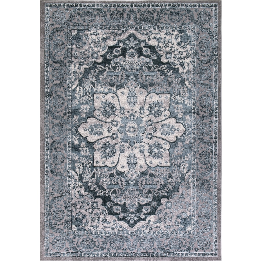 Concord Global Toledo Teal Rectangular Indoor Machine-Made Oriental Area Rug (Common: 3 x 5; Actual: 3.25-ft W x 4.58-ft L)