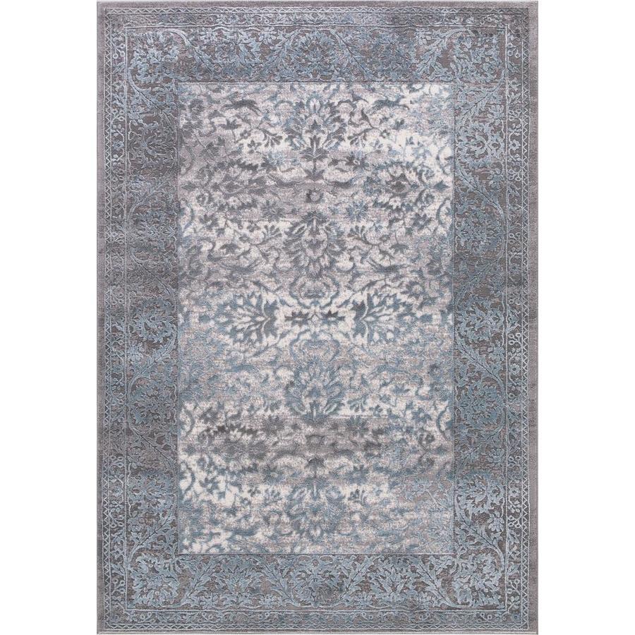 Concord Global Toledo Teal/Gray Rectangular Indoor Machine-Made Oriental Area Rug (Common: 5 x 7; Actual: 5.25-ft W x 7.25-ft L)