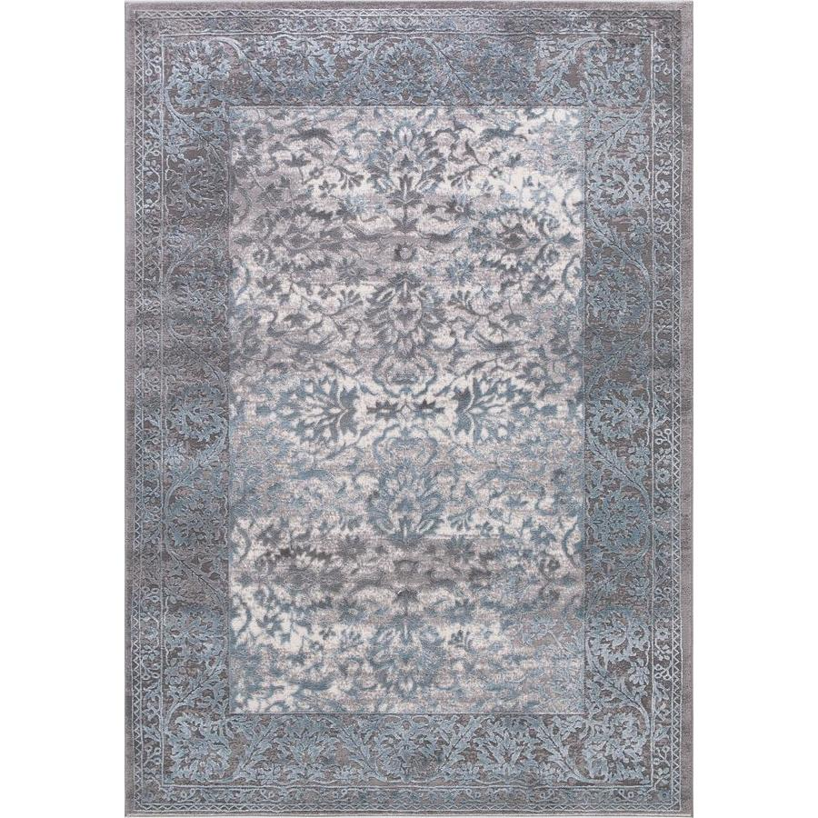 Concord Global Toledo Teal/Gray Rectangular Indoor Machine-Made Oriental Area Rug (Common: 7 x 10; Actual: 6.58-ft W x 9.25-ft L)