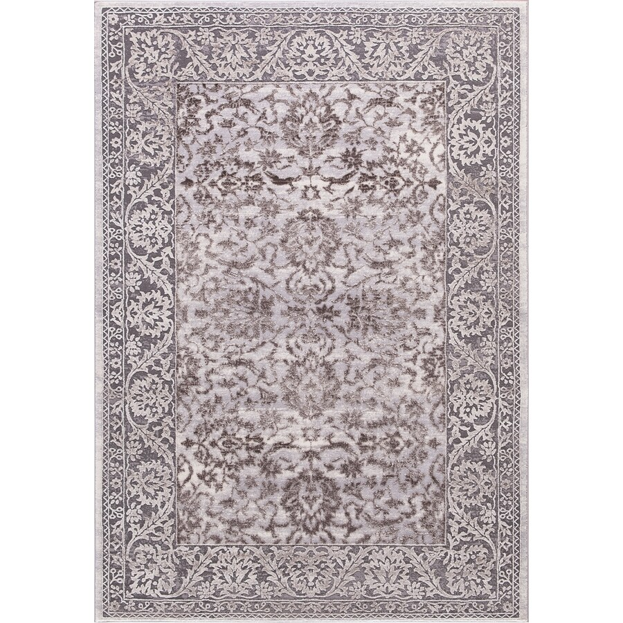 Concord Global Toledo Brown/Gray Rectangular Indoor Machine-Made Oriental Area Rug (Common: 7 x 10; Actual: 6.58-ft W x 9.25-ft L)