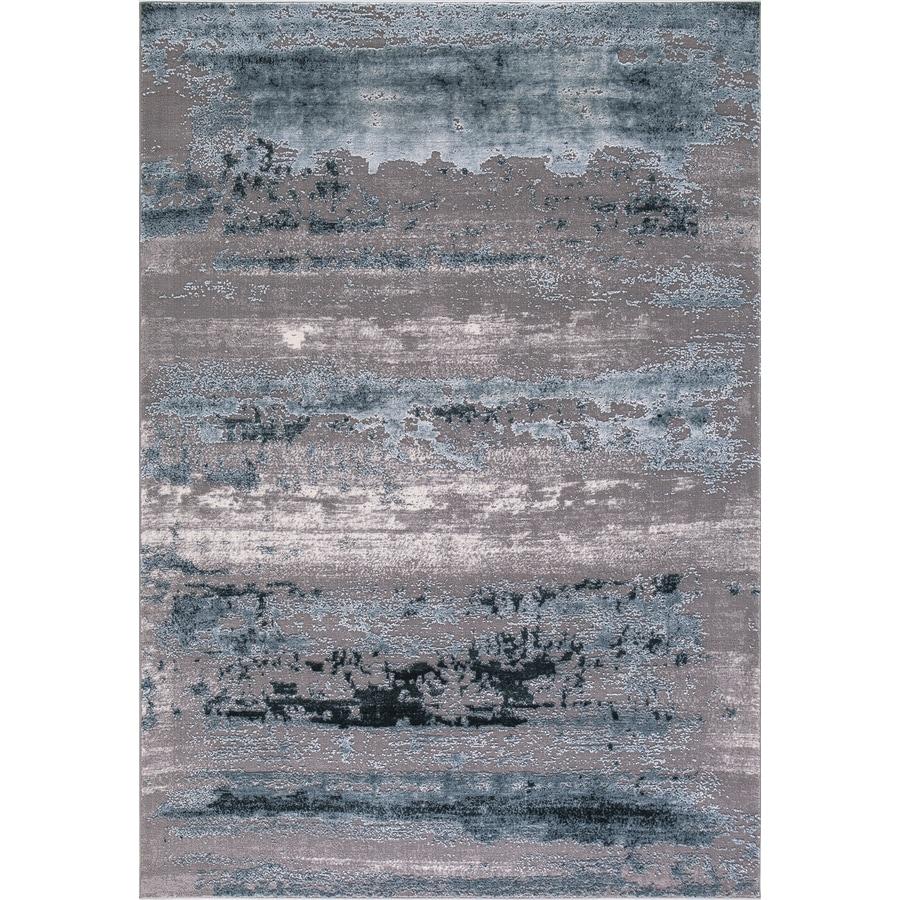 Concord Global Toledo Teal/Gray Rectangular Indoor Machine-Made Oriental Area Rug (Common: 3 x 5; Actual: 3.25-ft W x 4.58-ft L)