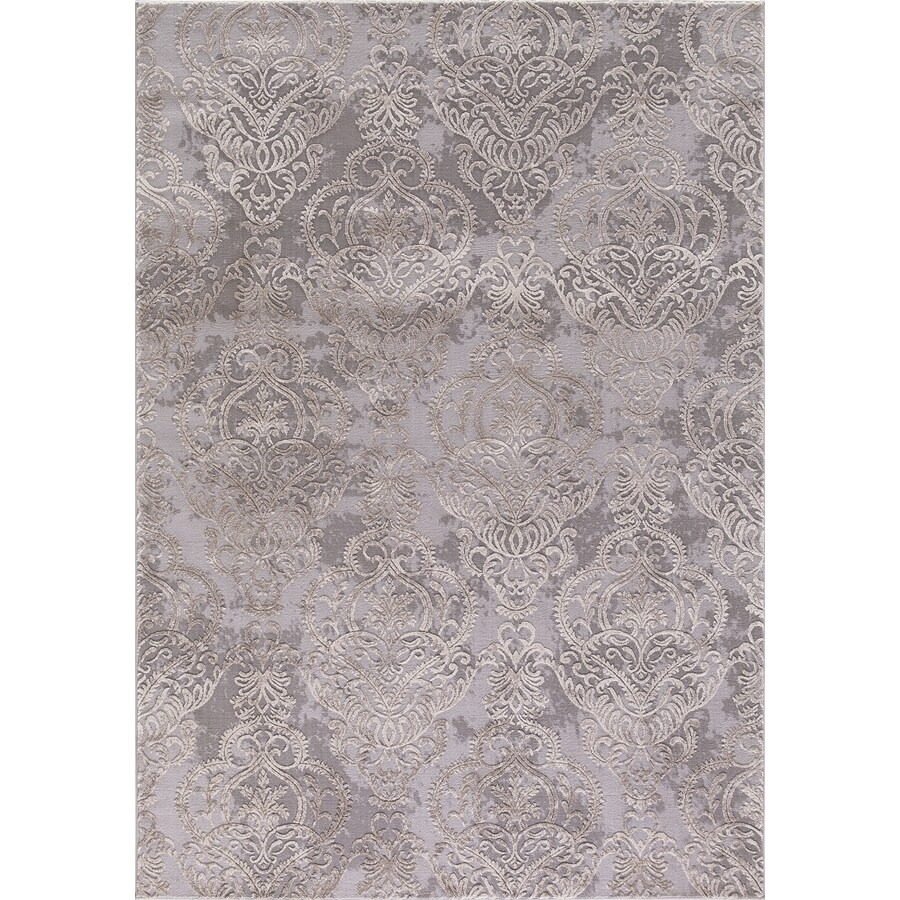 Concord Global Toledo Ivory/Gray Rectangular Indoor Machine-Made Oriental Area Rug (Common: 7 x 10; Actual: 6.58-ft W x 9.25-ft L)