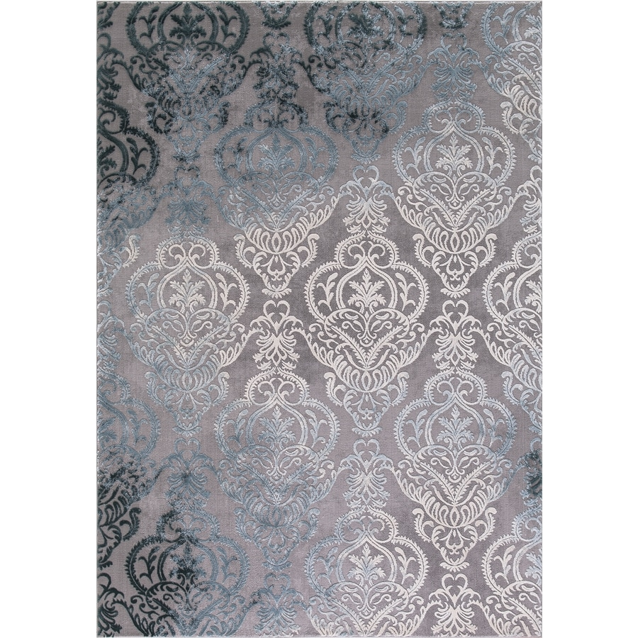Concord Global Toledo Soft Gray Rectangular Indoor Machine-Made Oriental Area Rug (Common: 7 x 10; Actual: 6.58-ft W x 9.25-ft L)
