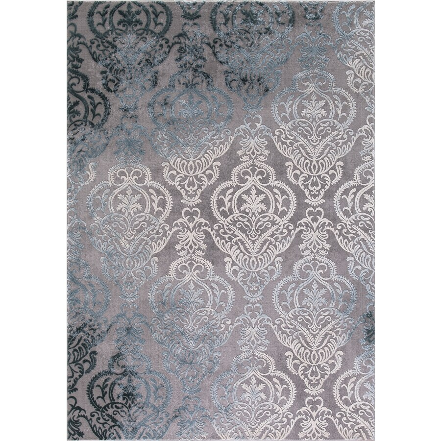 Concord Global Toledo Soft Gray Rectangular Indoor Machine-Made Oriental Area Rug (Common: 8 x 11; Actual: 7.83-ft W x 10.5-ft L)