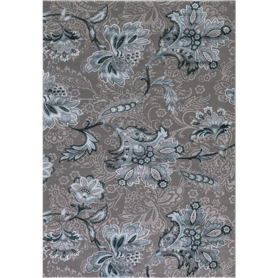 Concord Global Toledo Teal/Gray Rectangular Indoor Machine-made Oriental Area Rug (Common: 5 x 7; Actual: 5.25-ft W x 7.25-ft L)