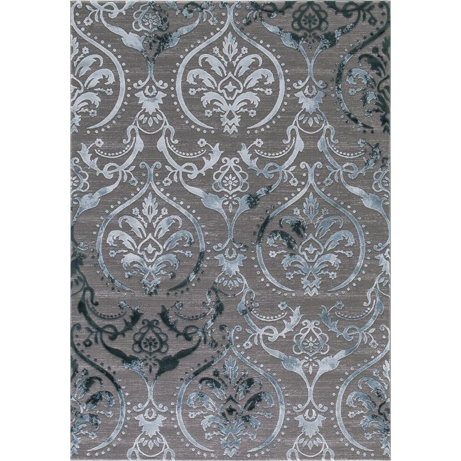 Concord Global Toledo Teal/Gray Rectangular Indoor Machine-Made Oriental Area Rug (Common: 7 x 10; Actual: 6.58-ft W x 9.25-ft L)