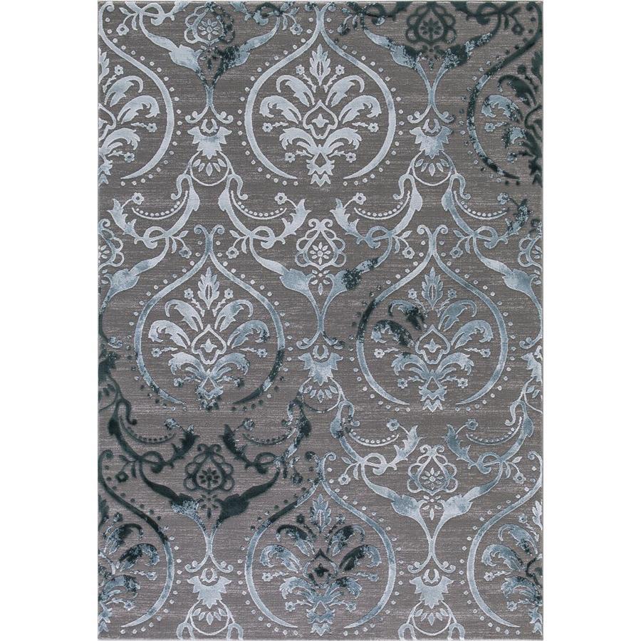 Concord Global Toledo Teal/Gray Rectangular Indoor Machine-Made Oriental Area Rug (Common: 8 x 11; Actual: 7.83-ft W x 10.5-ft L)