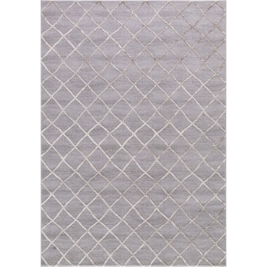 Concord Global Toledo Beige/Gray Rectangular Indoor Machine-Made Oriental Area Rug (Common: 5 x 7; Actual: 5.25-ft W x 7.25-ft L)
