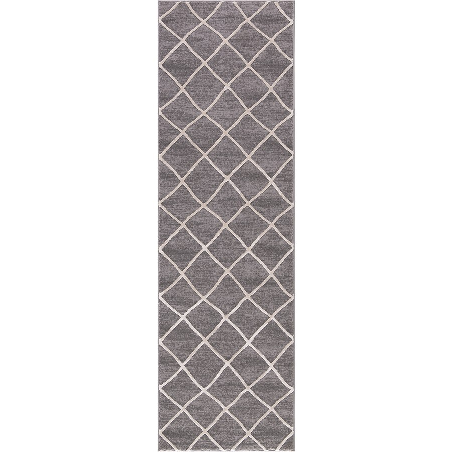 Concord Global Toledo Ivory/Gray Rectangular Indoor Machine-Made Oriental Runner (Common: 2 x 8; Actual: 2.25-ft W x 7.25-ft L)