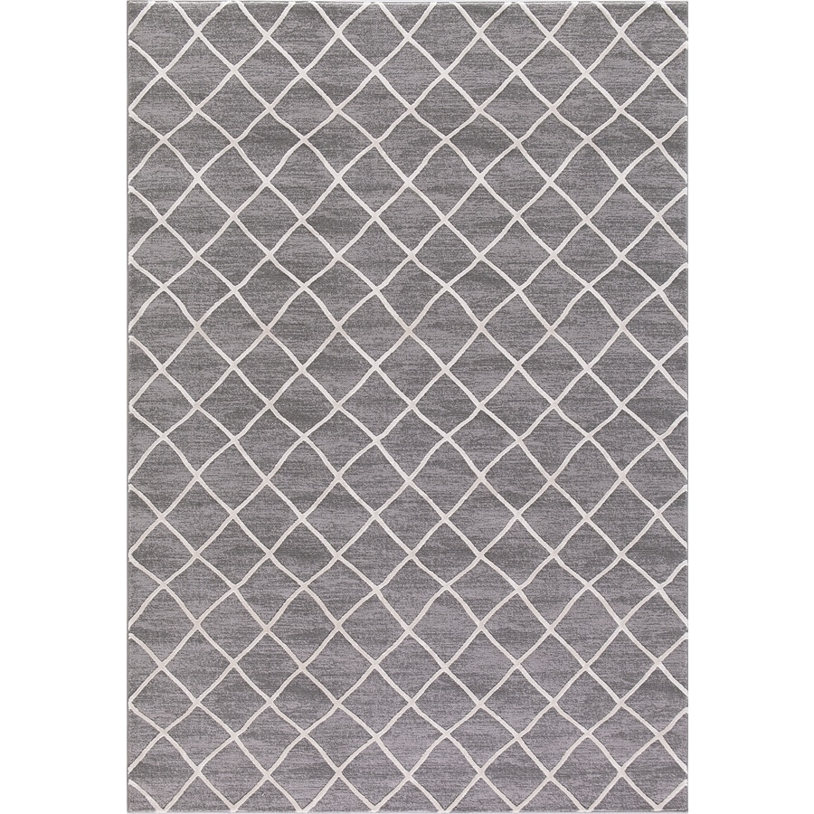 Concord Global Toledo Ivory/Gray Rectangular Indoor Machine-Made Oriental Area Rug (Common: 5 x 7; Actual: 5.25-ft W x 7.25-ft L)