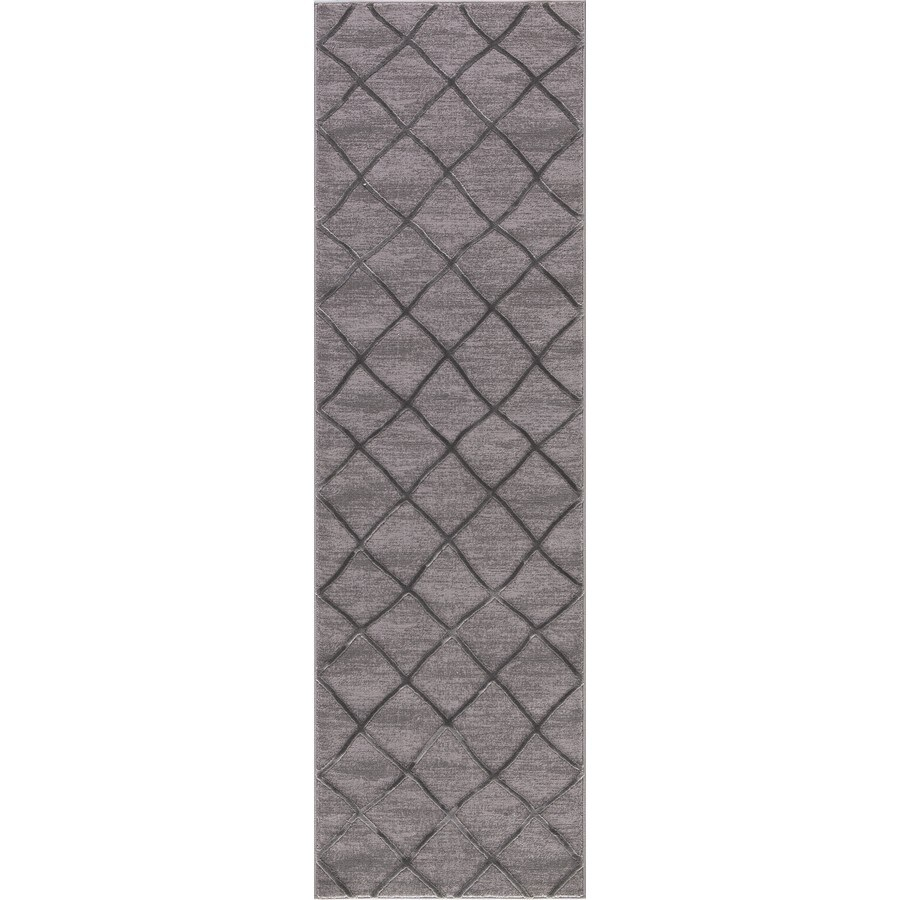 Concord Global Toledo Gray Rectangular Indoor Machine-Made Oriental Runner (Common: 2 x 8; Actual: 2.25-ft W x 7.25-ft L)