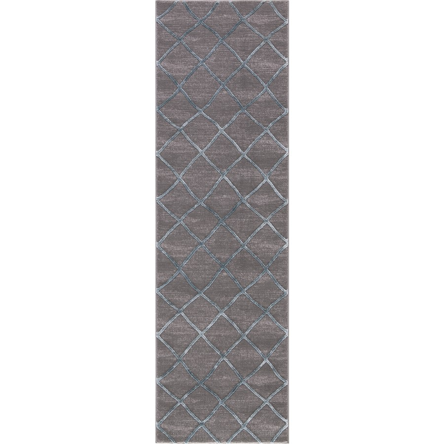Concord Global Toledo Teal/Gray Rectangular Indoor Machine-Made Oriental Runner (Common: 2 x 8; Actual: 2.25-ft W x 7.25-ft L)