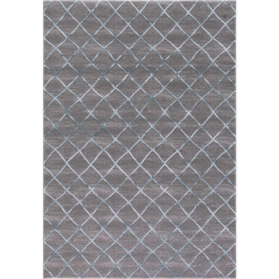 Concord Global Toledo Teal/Gray Rectangular Indoor Machine-Made Oriental Area Rug (Common: 3 x 5; Actual: 3.25-ft W x 4.58-ft L)