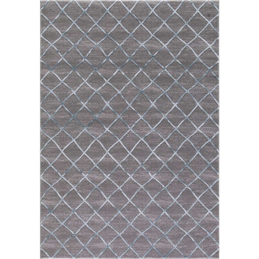 Concord Global Toledo Teal/Gray Rectangular Indoor Machine-Made Oriental Area Rug (Common: 8 x 11; Actual: 7.83-ft W x 10.5-ft L)