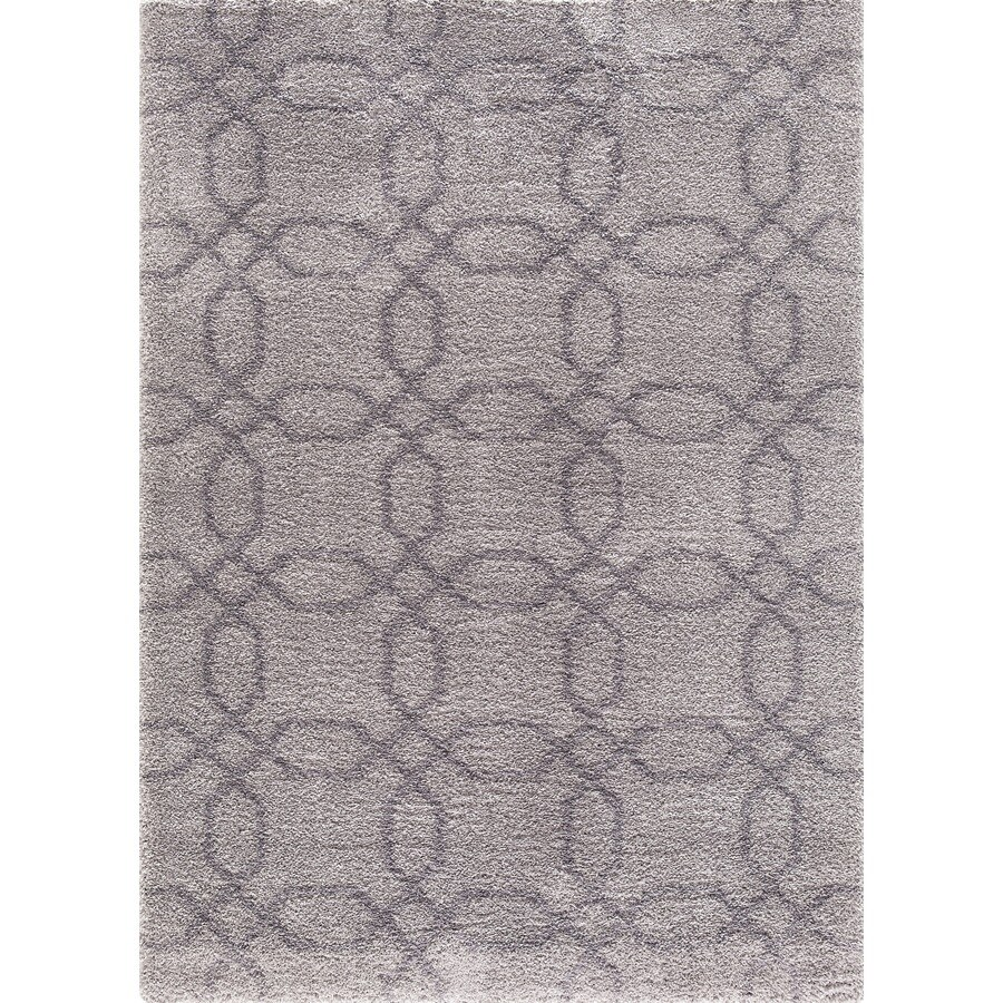Concord Global Micro Shaggy Gray Rectangular Indoor Machine-Made Oriental Area Rug (Common: 8 x 11; Actual: 7.83-ft W x 9.83-ft L)