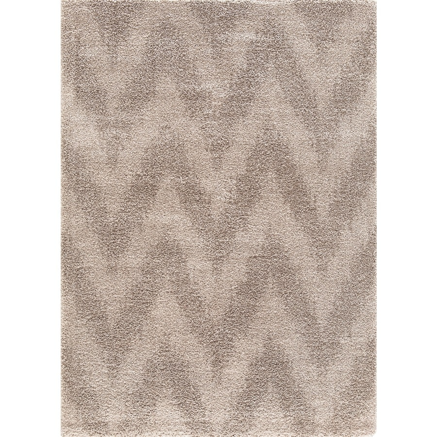 Concord Global Micro Shaggy Beige Rectangular Indoor Machine-Made Oriental Area Rug (Common: 8 x 11; Actual: 7.83-ft W x 9.83-ft L)