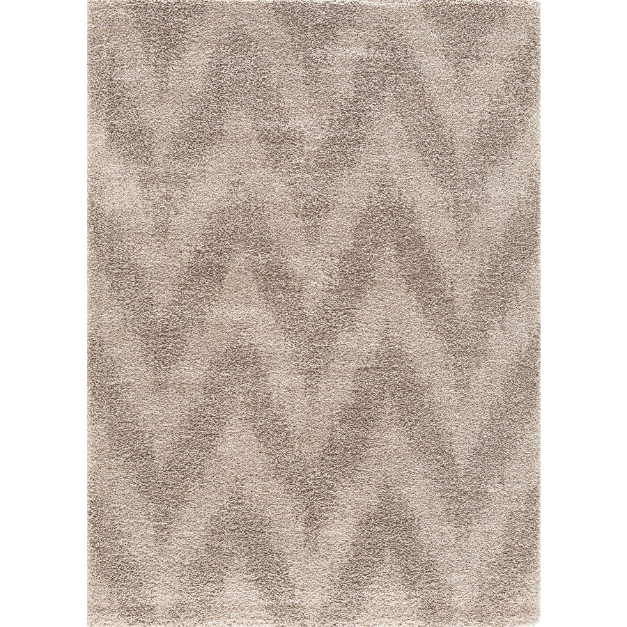 Concord Global Micro Shaggy Beige Rectangular Indoor Machine-Made Oriental Area Rug (Common: 8X11; Actual: 7.83-ft W x 9.83-ft L)