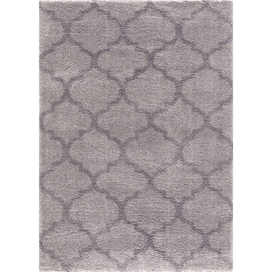 Concord Global Micro Shaggy Gray Rectangular Indoor Machine-Made Oriental Area Rug (Common: 3 x 5; Actual: 3.25-ft W x 4.58-ft L)