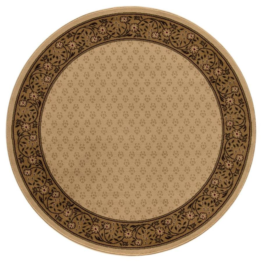 Concord Global Valencia Ivory Round Indoor Woven Oriental Area Rug (Common: 5 x 5; Actual: 5.25-ft W x 5.25-ft L x 5.25-ft Dia)