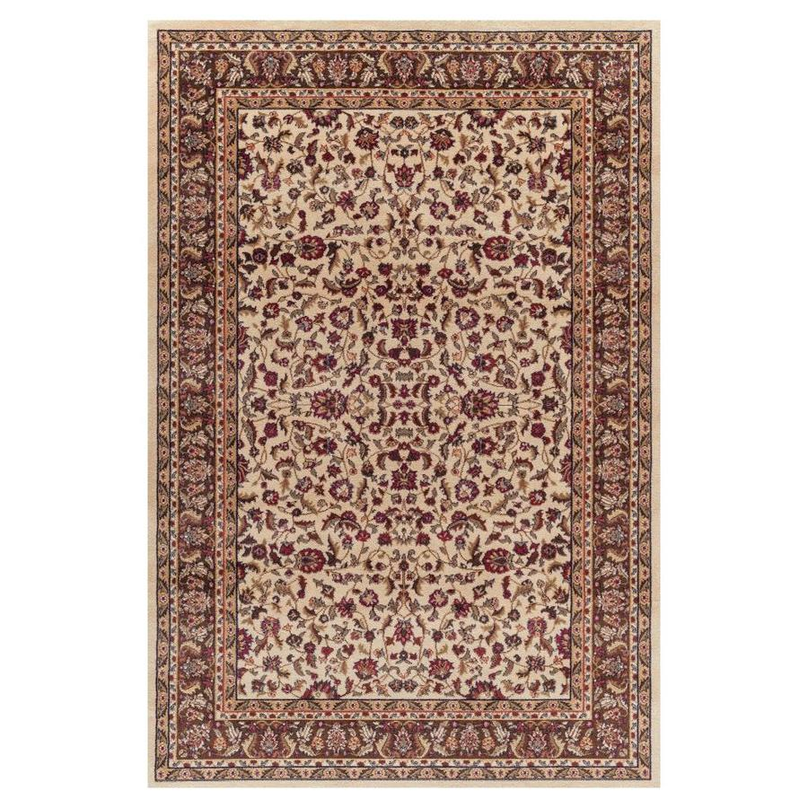 Concord Global Valencia Ivory Rectangular Indoor Machine-made Oriental Area Rug (Common: 9 x 13; Actual: 9.25-ft W x 12.5-ft L x 9.25-ft Dia)