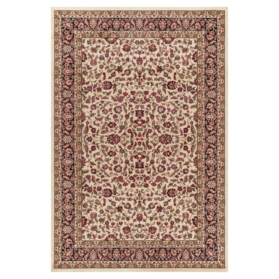 Concord Global Valencia Ivory Rectangular Indoor Machine-made Oriental Area Rug (Common: 4 x 6; Actual: 3.92-ft W x 5.58-ft L x 3.92-ft Dia)