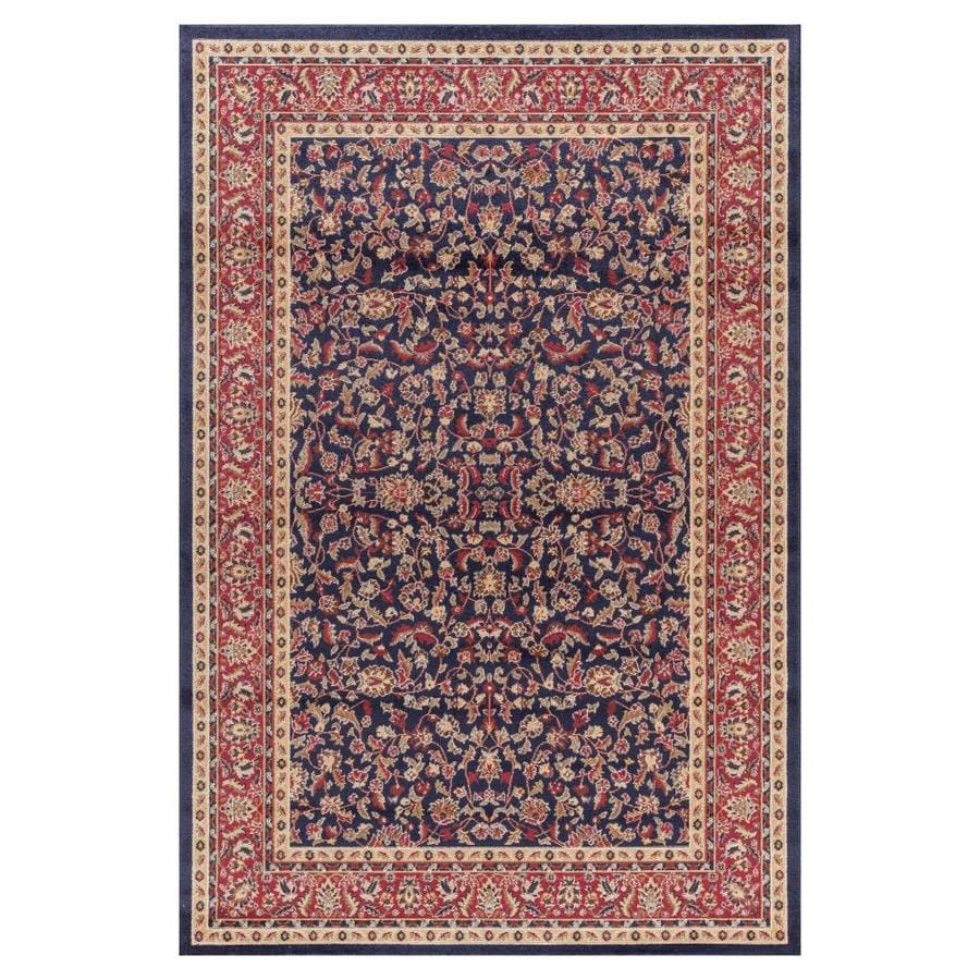 Concord Global Valencia Navy Rectangular Indoor Woven Oriental Area Rug (Common: 4 x 6; Actual: 3.92-ft W x 5.58-ft L x 3.92-ft Dia)