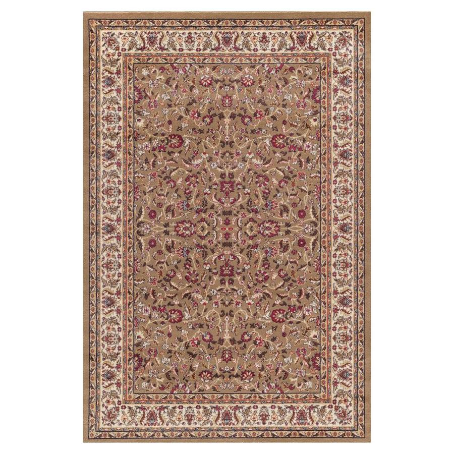 Concord Global Valencia Green Rectangular Indoor Woven Oriental Area Rug (Common: 7 x 9; Actual: 6.58-ft W x 9.25-ft L x 6.58-ft Dia)