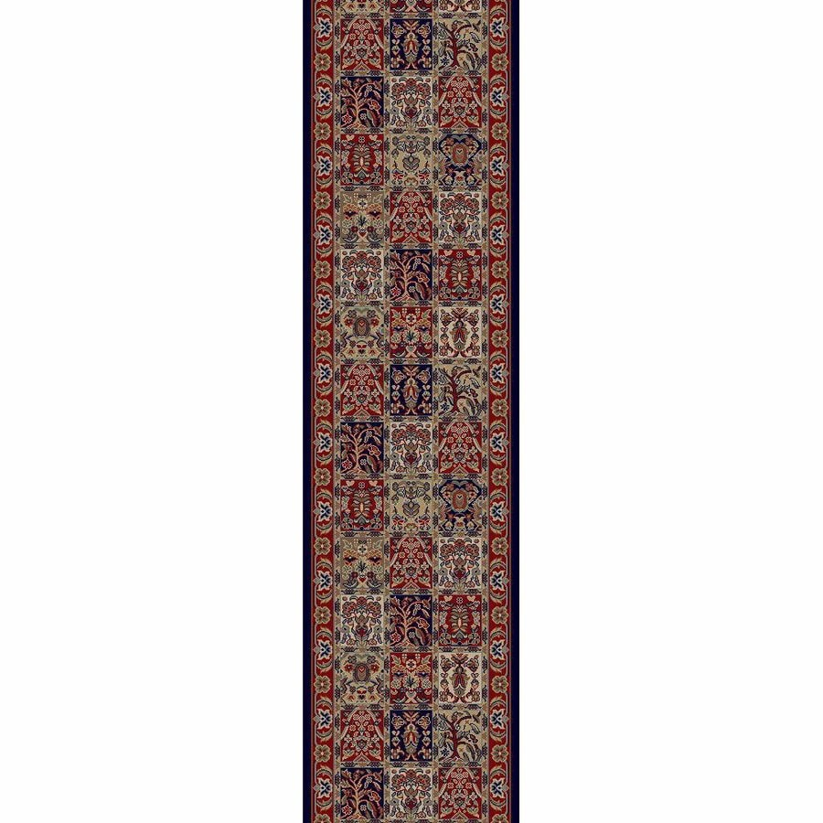 Concord Global Valencia Red Rectangular Indoor Machine-made Oriental Runner (Common: 2 x 8; Actual: 2.25-ft W x 7.58-ft L x 2.25-ft Dia)