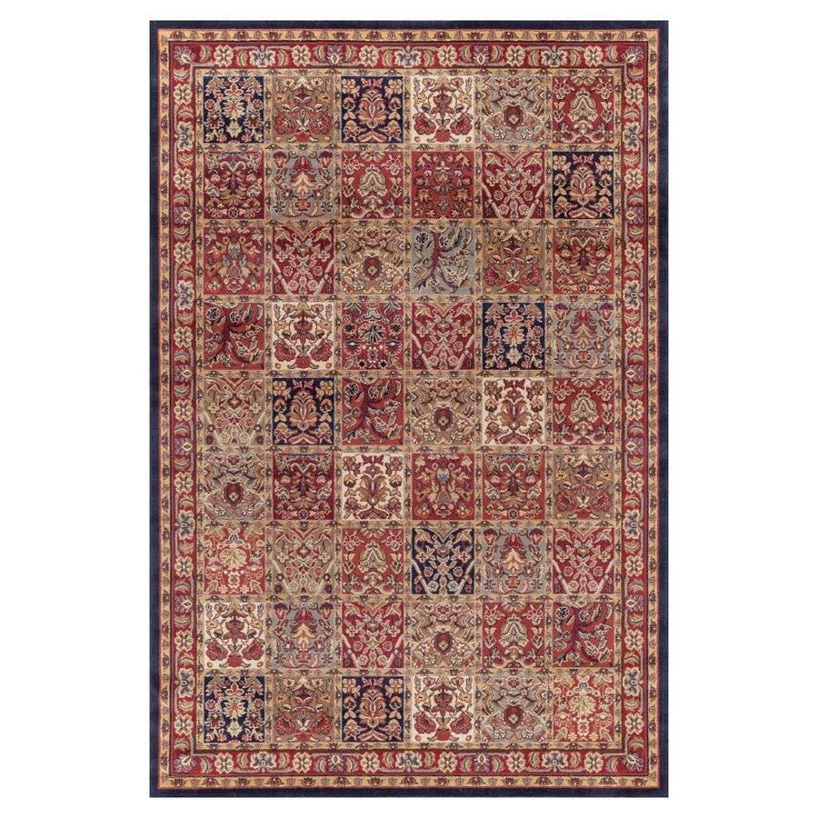 Concord Global Valencia Red Rectangular Indoor Woven Oriental Area Rug (Common: 4 x 6; Actual: 3.92-ft W x 5.58-ft L x 3.92-ft Dia)