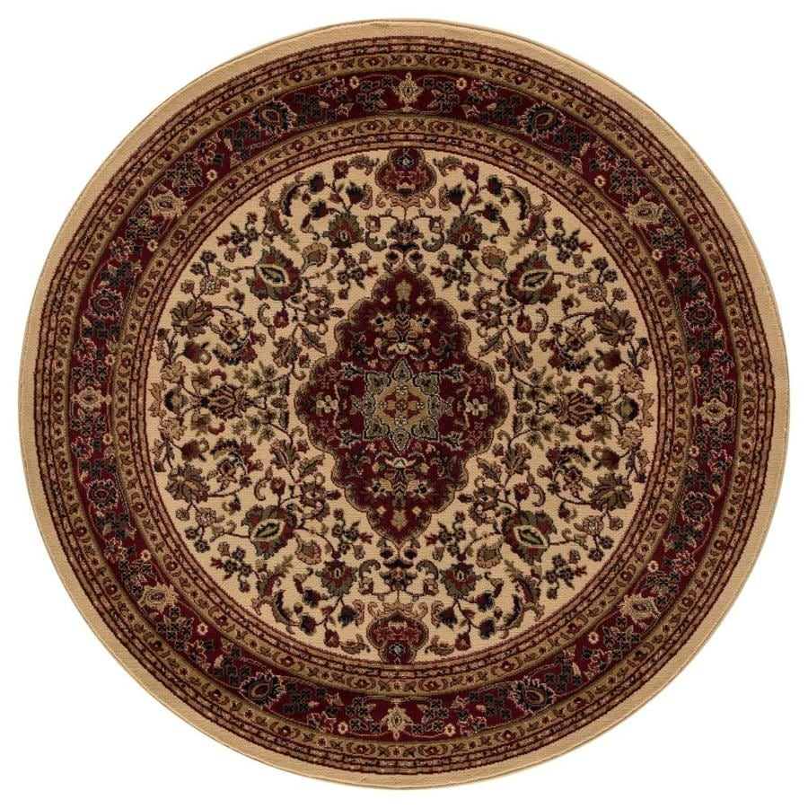 Concord Global Valencia Ivory Round Indoor Woven Oriental Area Rug (Common: 5 x 5; Actual: 63-in W x 63-in L x 5.25-ft Dia)