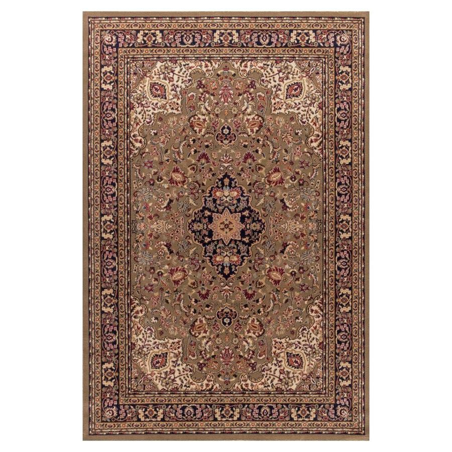 Concord Global Valencia Green Rectangular Indoor Woven Oriental Area Rug (Common: 5 x 8; Actual: 63-in W x 91-in L x 5.25-ft Dia)