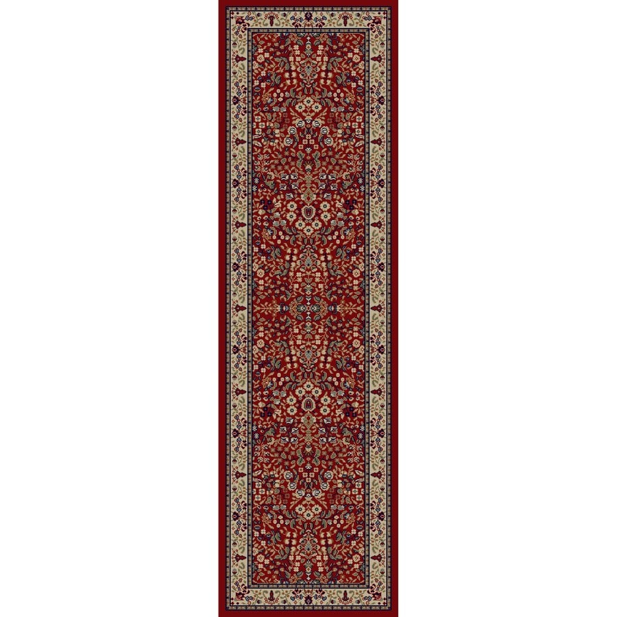 Concord Global Valencia Red Rectangular Indoor Woven Oriental Runner (Common: 2 x 8; Actual: 27-in W x 91-in L x 2.25-ft Dia)