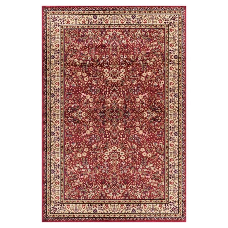 Concord Global Valencia Red Rectangular Indoor Woven Oriental Area Rug (Common: 8 x 10; Actual: 94-in W x 118-in L x 7.83-ft Dia)