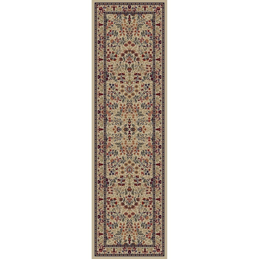 Concord Global Valencia Ivory Rectangular Indoor Machine-Made Oriental Runner (Common: 2 x 8; Actual: 2.25-ft W x 7.58-ft L x 2.25-ft Dia)