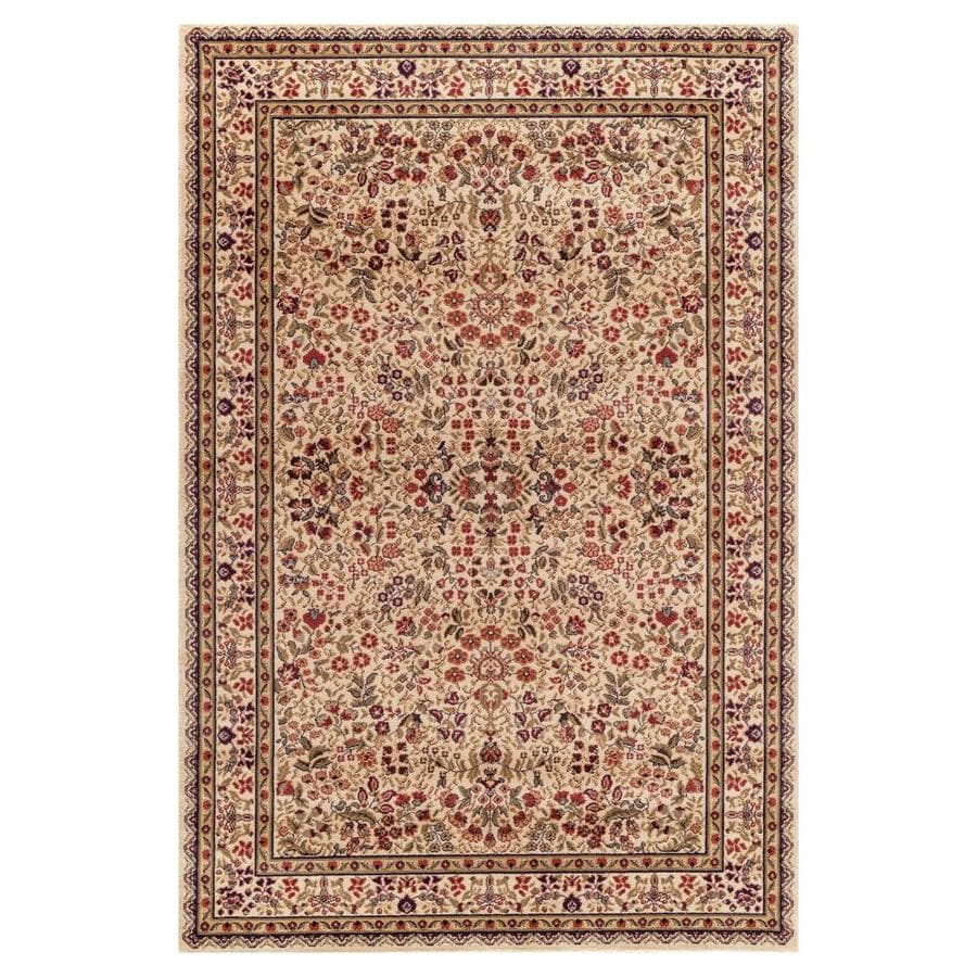 Concord Global Valencia Ivory Rectangular Indoor Woven Oriental Area Rug (Common: 7 x 9; Actual: 6.58-ft W x 9.25-ft L x 6.58-ft Dia)