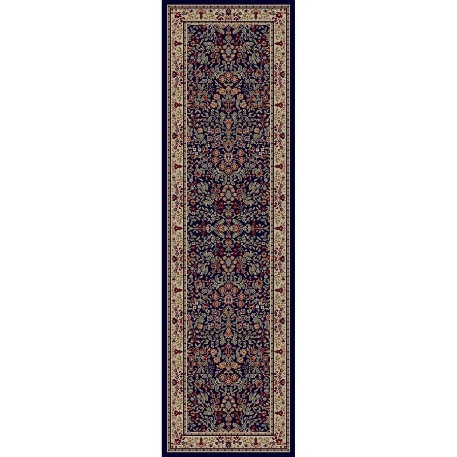 Concord Global Valencia Navy Rectangular Indoor Woven Oriental Runner (Common: 2 x 8; Actual: 2.25-ft W x 7.58-ft L x 2.25-ft Dia)