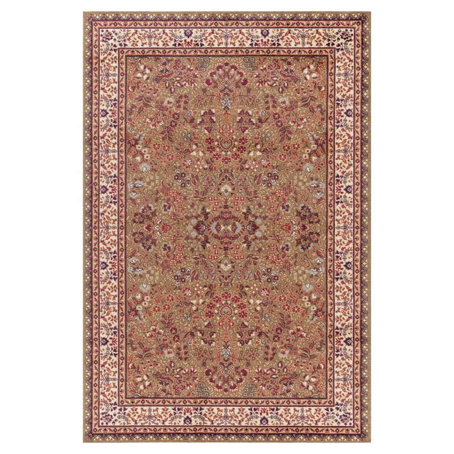 Concord Global Valencia Green Rectangular Indoor Woven Oriental Area Rug (Common: 5 x 8; Actual: 5.25-ft W x 7.58-ft L x 5.25-ft Dia)