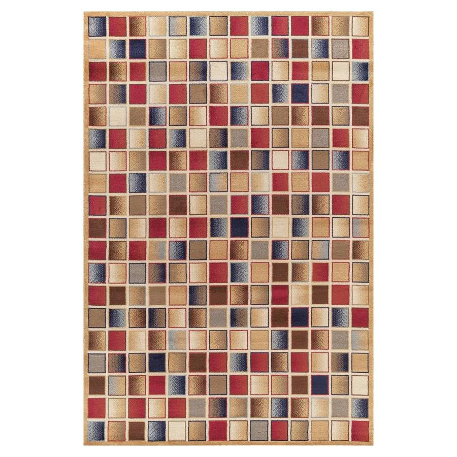 Concord Global Valencia Gold Rectangular Indoor Woven Oriental Area Rug (Common: 4 x 6; Actual: 3.92-ft W x 5.58-ft L x 3.92-ft Dia)