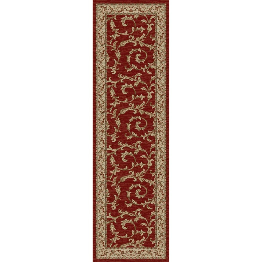 Concord Global Valencia Red Rectangular Indoor Oriental Runner (Common: 2 x 8; Actual: 2.25-ft W x 7.58-ft L x 2.25-ft dia)