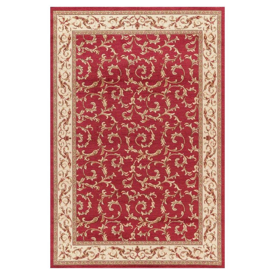 Concord Global Valencia Red Rectangular Indoor Woven Oriental Area Rug (Common: 9 x 13; Actual: 9.25-ft W x 12.5-ft L x 9.25-ft Dia)