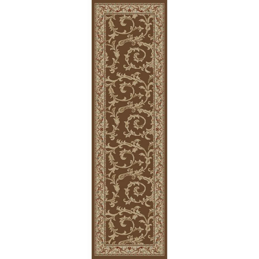 Concord Global Valencia Brown Rectangular Indoor Machine-made Oriental Runner (Common: 2 x 8; Actual: 2.25-ft W x 7.58-ft L x 2.25-ft Dia)