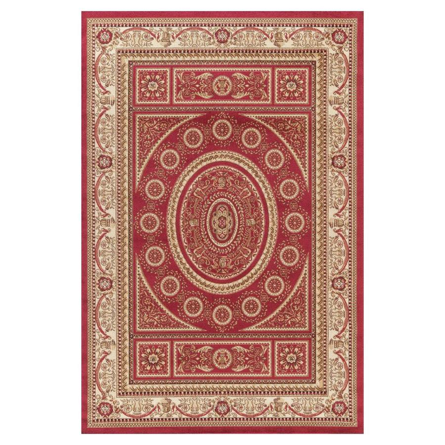Concord Global Valencia Red Rectangular Indoor Woven Oriental Area Rug (Common: 9 x 12; Actual: 9.25-ft W x 12.5-ft L x 9.25-ft Dia)